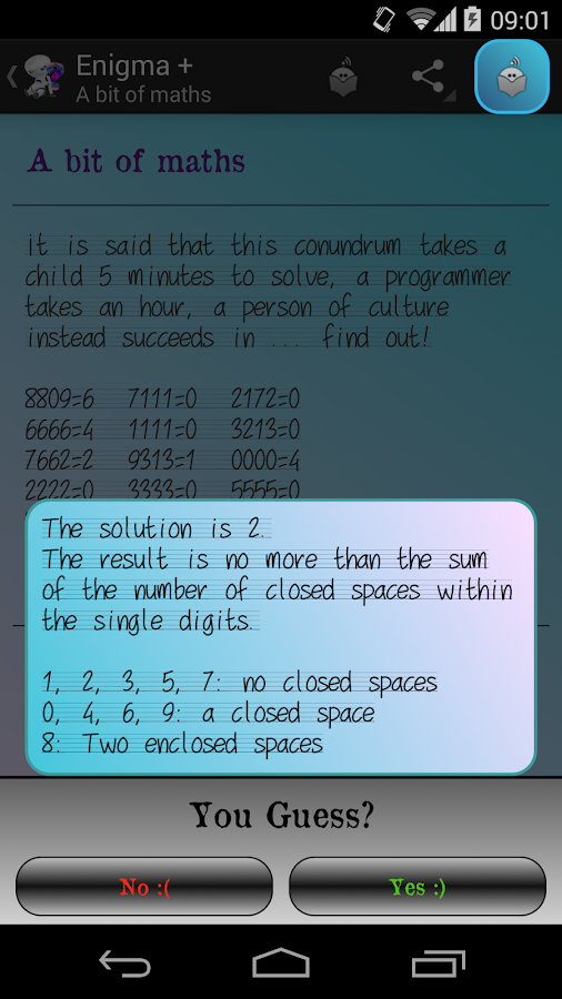 Enigma +: Brain teasers - screenshot