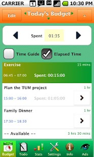 TUM Time Budget - Time Manager- screenshot thumbnail