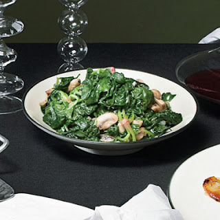Spinach and Mushrooms with Truffle Oil.