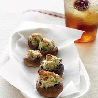 Goat-Cheese Stuffed Mushrooms.