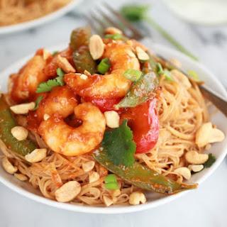 Thai Shrimp Curry and Peanut Noodles