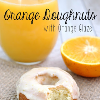 Orange Doughnuts with Orange Glaze.