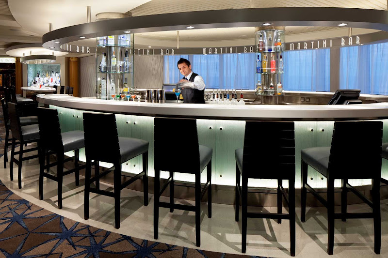 Celebrity Infinity's Martini bar is the perfect place for your pre-dinner cocktail.