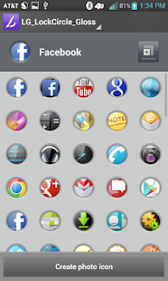 Gloss lockCircles LGHome Theme - screenshot thumbnail