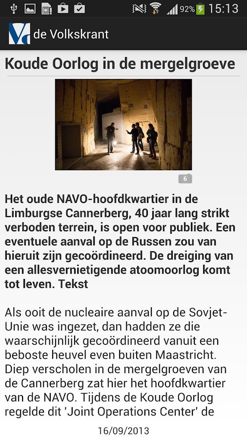 de Volkskrant - screenshot