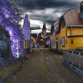 by Ján Hrmo - Abstract Fire & Fireworks ( cesta, ohrada, domy, ulica, kostol, plot )