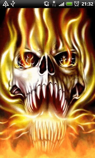 Evil Fire Skull Live Wallpaper