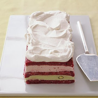 Strawberry and Pistachio Ice-Cream Cake