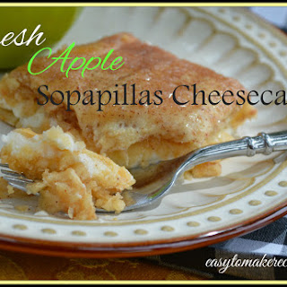 Fresh Apple Sopapillas Cheesecake