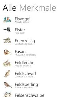 NABU Vogelführer- screenshot