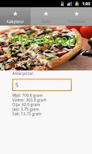 Pizzarecept- screenshot thumbnail
