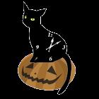 黒猫アナログ時計ウィジェット icon