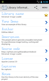 Libraries for developers - screenshot thumbnail