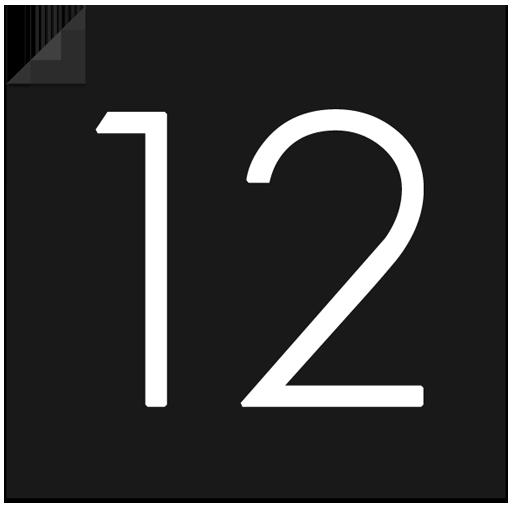 Dark Card Clock - UCCW Skin 個人化 App LOGO-APP試玩