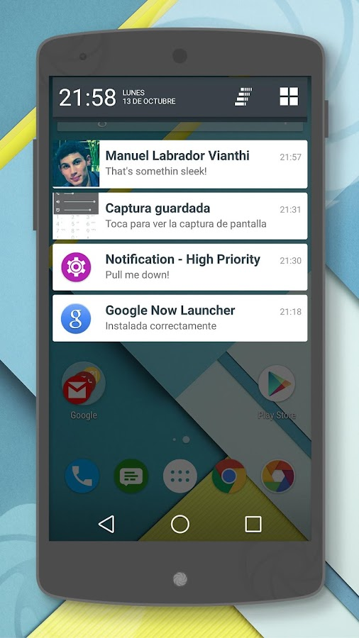 Lollipop 5.0 CM11/PA Theme- screenshot