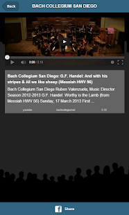 Bach Collegium San Diego - screenshot thumbnail