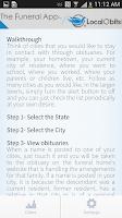 Screenshot of The Funeral App
