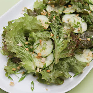 Lola Rosa and cucumber salad with ginger-lime-coconut dressing.