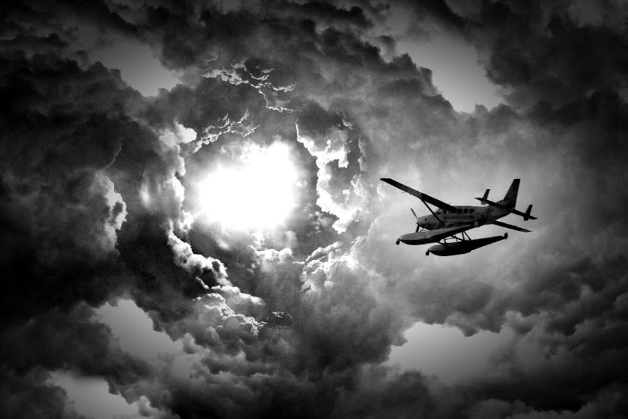 Worm hole by Joffre Arteaga - Black & White Landscapes ( sky, plane, black and white )