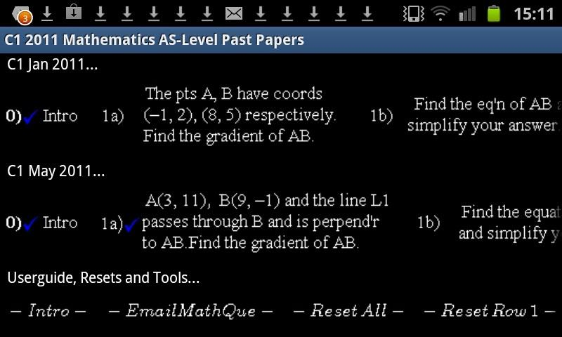 C1 Maths WJEC 2011PP Revision - screenshot