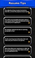 Screenshot of Resume Tips