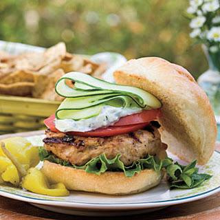 Greek Turkey Burgers.