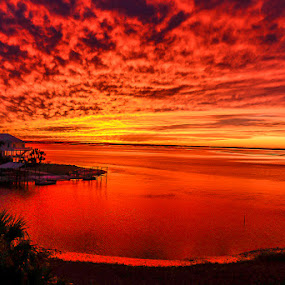 Shellpoint Sunset by Mike Moss - Landscapes Sunsets & Sunrises (  )