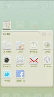 Baby White GO LauncherEX Theme - screenshot thumbnail
