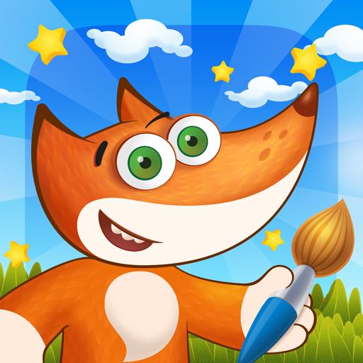 Tim the Fox - Paint Free 教育 App LOGO-APP試玩