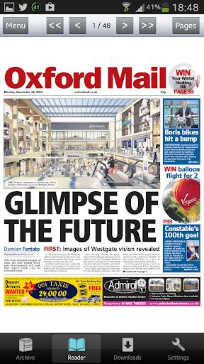 Oxford Mail Newspaper