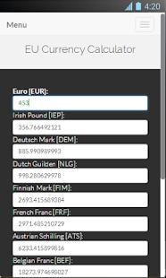 EU Currency Calculator Screenshot 3