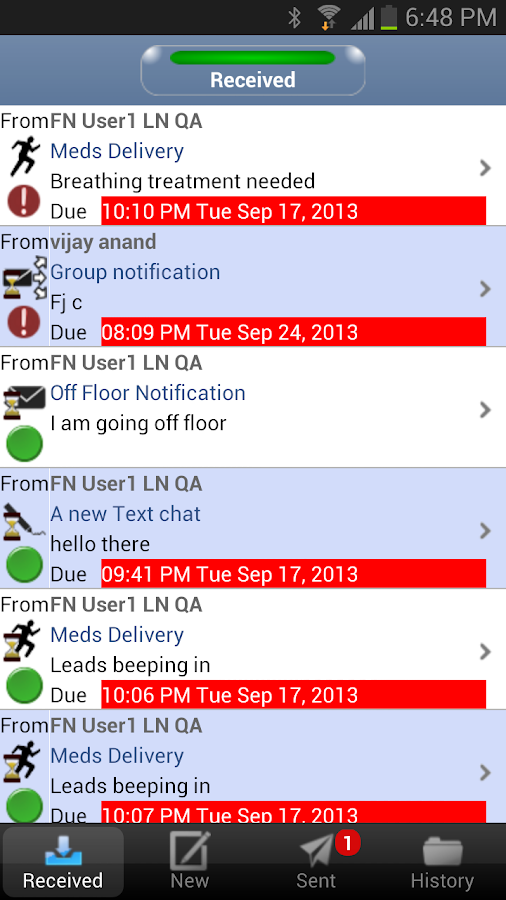 Mobile Activity Assistant - screenshot