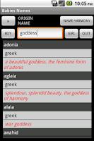 Screenshot of Kidz Names