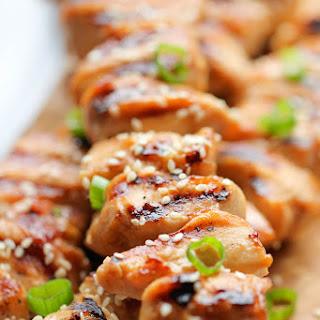 Chicken Teriyaki Kabobs.