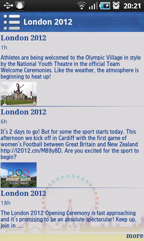 London Sports 2012 - screenshot