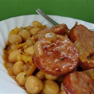 Cuban Smoked Sausage with Chickpeas