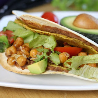Double Decker Chickpea Tacos.