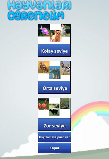 Hayvanları Öğrenelim Türkçe