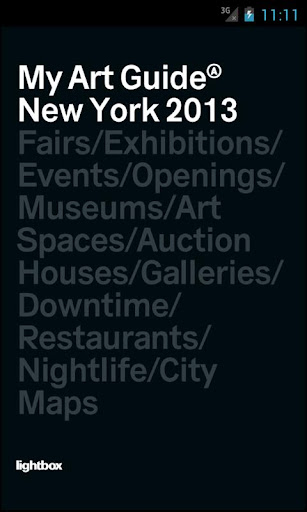 My Art Guide New York 2013