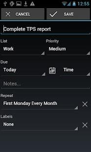 BHive Google Tasks - screenshot thumbnail