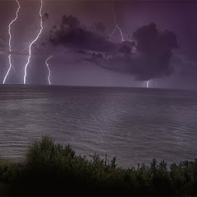 Storm by Ivan Bertusi - Landscapes Weather ( lightning, sea, night, storm, light )