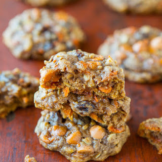 Soft and Chewy Spiced Carrot Cake Cookies