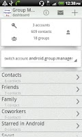 Screenshot of Group Contact  Manager
