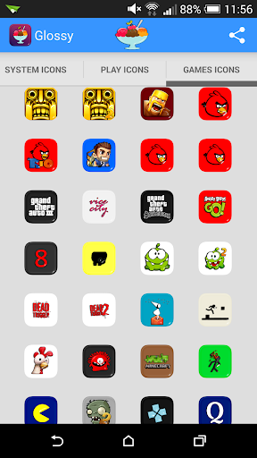 個人化必備APP下載|Glossy Square Icon Pack Theme 好玩app不花錢|綠色工廠好玩App
