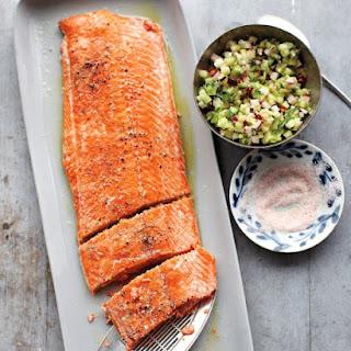 Salmon with Cucumber-Radish Relish Recipe
