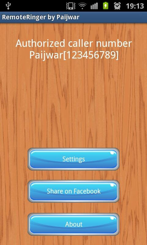 Remote Ringer (FREE) - Paijwar - screenshot