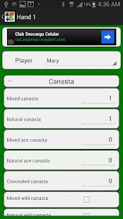 Canasta Score- screenshot thumbnail