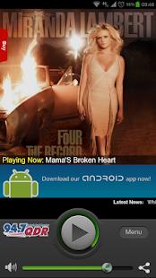 WQDR - 94.7 FM - screenshot thumbnail