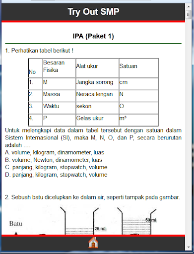 Soal Ujian IPA