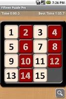 Screenshot of Fifteen Puzzle Pro